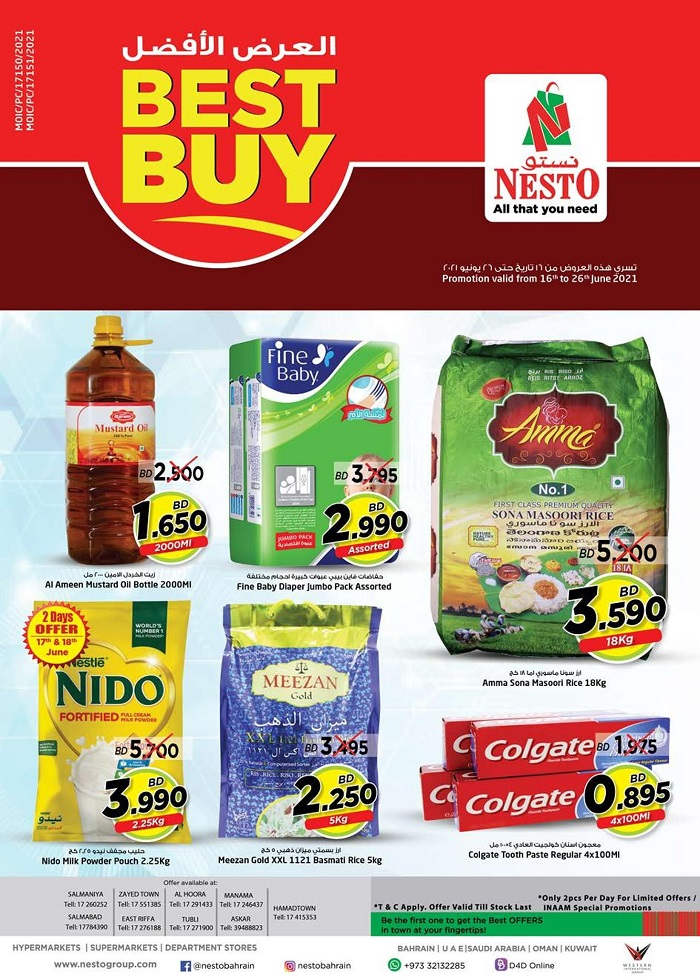 Nesto Best Buy Promotion Leaflet cover page
